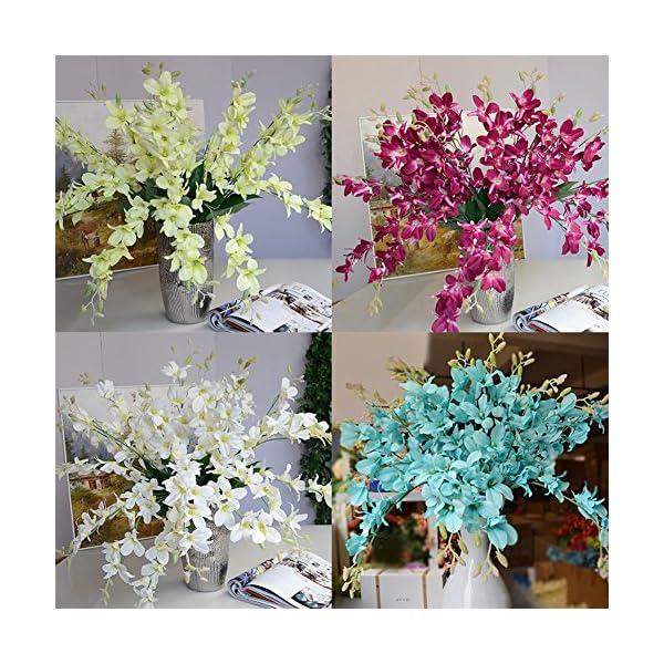 gzzebo Flores Artificiales, Planta de Flor de orquídea Falsa para la decoración del Partido de la Fiesta de Bienvenida…