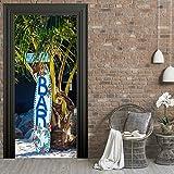 StickerProfis Poster adesivo da porta e pareti - BAR DI SOIAGGIA - murale foglio di porta Strand Bar