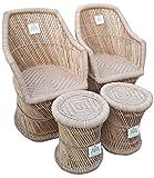 #9: Ecowoodies HandiCraft Cane Furniture Set
