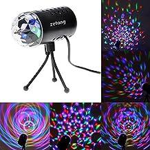 Lumières de la scène 3W Lampes de la scène LED RGB Zetong Lumière Ampoule Sonore-Activé Avec Support Pour Fête de Noël Disco DJ Party EU Plug