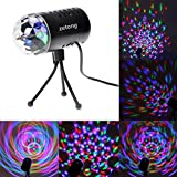 Zetong LED Lichteffekte Disco Licht Party Licht Bühnenbeleuchtung 3W RGB Sprachaktiviertes Kristall Magic Ball Bühnenlicht für Show Disco KTV Stab Stadium Club Party
