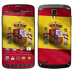 """Samsung Galaxy S4 Active Designfolie """"Spanien Flagge"""" Skin Aufkleber für Galaxy S4 Active"""