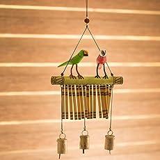 ExclusiveLane Bird Collection Wooden Handpainted & Handmade Decorative Hanging - Door Hanging Wind Chimes Home Decoration Item