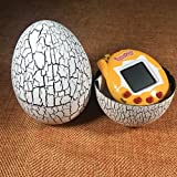 Tumbler Dinosaur Egg Electronic Virtual Pets with Keyring,Wyurhjh® 90S Cyber Tamagotchi 49 Pets In One Electronic Game Toy Xmas Gift for Kid Child Girls Boys (White)