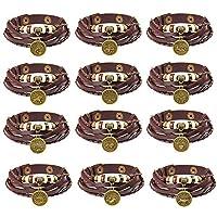 Worthititit 12 Constellations Beads Multi Layer Braided Faux Leather Unisex Bracelet Jewelry Couple Accessory Jewelry Bracelet For Women Jewelry Fashion Accessories Aquarius