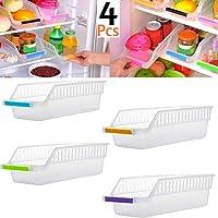 Angel Bear Fridge Storage Basket Shelf Organiser Rack Space Saver Food Storage Refrigerator Drawer (4)