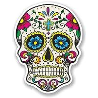 2x calavera vinilo adhesivo, día de los muertos mexicana # 5667