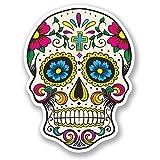 DestinationVinyl #5667 - Adhesivos decorativos de vinilo, diseño de calavera mexicana, 2 unidades
