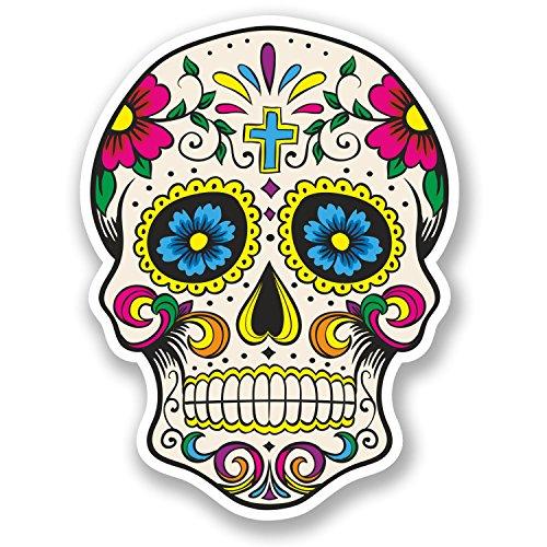 destinationvinyl-lot-de-2-autocollants-vinyle-motif-mexicain-espagnol-tete-de-mort-n-5667