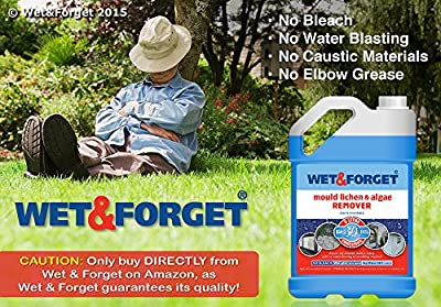 Wet & Forget - Moss Mould Lichen & Algae Remover (5 Litre) cleans anything with no effort