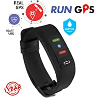 GoQii Run GPS Fitness Tracker with Heart Rate Monitor & 3 Month Personal Coaching  (Black)
