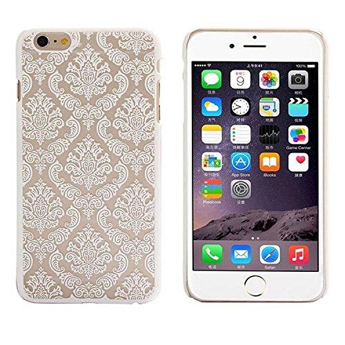 Preisvergleich Produktbild für iPhone 6S Plus 5.5 inch,Tonsee Damast Jahrgang Muster Matt hart Case Cover Schutzhülle (schwarz) (weiß)