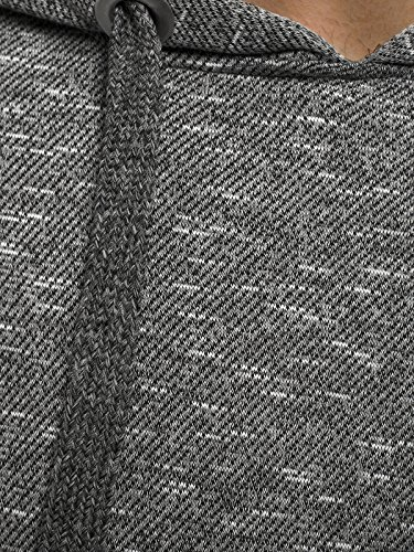 OZONEE Felpa Uomo Felpa con cappuccio Maglia a maniche lunghe Sportivi Pullover STREET STAR 7035 Grigio scuro