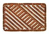 Faba Home Kokos Drahtgitter Fußmatte, sehr robust, wetterfest, Drahtgittermatte für groben Schmutz, Drahtmatte 60 x 40 cm