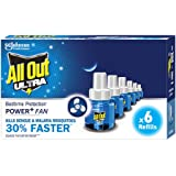 All Out Ultra Mosquito Repellant Refill Pack of 6 (45 mL each)   30% Faster Action