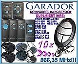 10 X GARADOR HSM2/HSM4/HS1/HS2/HS4/HSE2/HSD2-A/HSD2-C/HSP4/HSP4-C/HSZ1/HSZ2 Kompatibel Handsender, Ersatz sender, 868.3Mhz fixed code, Klone
