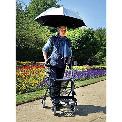 Schirm für Rollator Nitro Schwarz - Reflektorrand