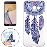 Samsung Galaxy J5 (2017) Crystal Case Durchsichtig TPU Traumfänger-Hülle – Dreamcatcher Optik Case Schutzhülle Traum-fänger Abstrakt Transparent ornamentale Ethno-Look Hindi-Kultur Muster Design – MOVOJA – Blau -Traumfänger