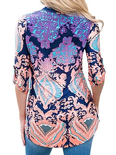 Smalltile Donne Sweatshirt Jumper Pullover Camicie Top Orlo Irregolare Cime Casuali Manica Lunga V Arredamento Bluse Blu