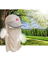 Verano al aire libre del sol del casquillo del visera del sombrero los hombres y las mujeres sombrero de mosquitos transpirable pesca profesional sombrero de pesca