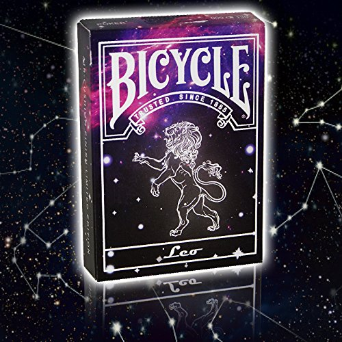 Bicycle Constellation Series Playing Cards - Leo / Löwe, LIMITED EDITION Playing Cards, Pokerkarten + 3 Look and Feel - Karten
