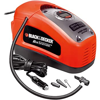BLACK+DECKER ASI300-QS Compresseur filaire - 11 bar / 160PSI - Pompe à air,Multicolore (Rouge / Noir)