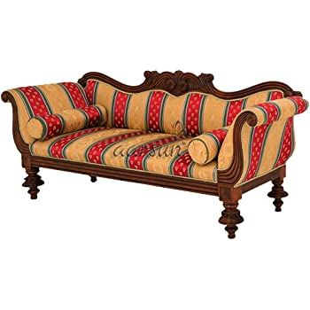 Aarsun Woods Wooden Diwan   Couch For Living Room   Multicolor   Handcrafted