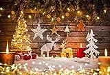 KateHome PHOTOSTUDIOS Xmas Photography Sfondo 3×3m Retro parete di legno sfondo Glitter Light per Fondali in studio fotografico