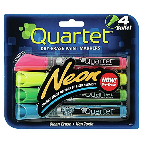 quartet-dry-erase-markers-bullet-tip-glo-write-neon-assorted-colors-79551-by-quartet