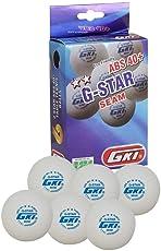 GKI G-Star ABS Plastic 40+ Table Tennis Ball, Pack of 6 (White)