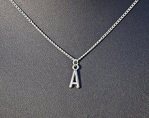 Initiale Halskette A-Z, Name Halskette Monogramm Halskette Lariat Halskette in Weiß Gold, Brautjungfer Geschenk Idee, Urlaub Geschenk personalisierte Halskette (Personalisierte Gold-halskette)