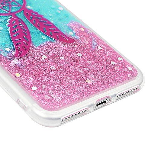 Cover per iPhone 7 Plus Silicone e Bling Glitter Brillanti, iPhone 8 Plus Custodia Morbida TPU Flessibile Gomma - MAXFE.CO Case Ultra Sottile Cassa Protettiva per iPhone 7 Plus / iPhone 8 Plus - Acchi Acchiappasogni