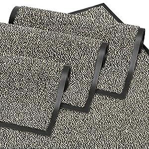 GadHome Schmutzfangmatte Fußmatte für Haustür innen und außen | Fußabstreifer/Fußabtreter | Tuervorleger für Eingangsbereiche | Sauberlaufmatte Anthrazit-Schwarz