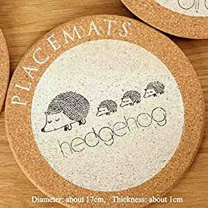 Buy Generic E Hedgehog Kitchen Accessories Decoration Home Cork Black And White Geometry Table Coasters Flowers Round Placemats Wo Online At Low Prices In India Amazon In