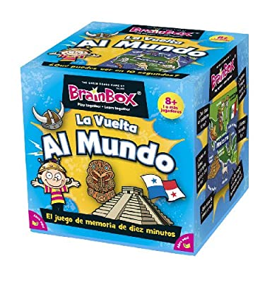 Green Board Games BrainBox La vuelta al mundo - Juego de memoria sobre el mundo de Green Board Games