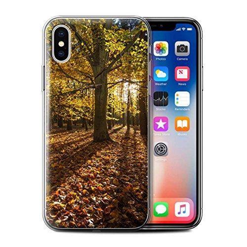 Stuff4 Gel TPU Hülle / Case für Apple iPhone X/10 / Wald Muster / Herbst Saison Kollektion Wald/Baum