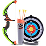 ColiCor Kids Bow and Arrow Set, Children Sport Shooting Archery Toys with Soft Sucker, Arrow and Target Set, Archery set…