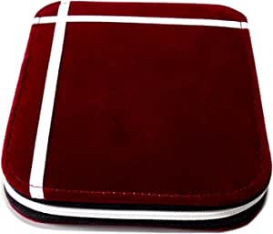 Girija Red Velvet Earrings Pouch 12 Pairs