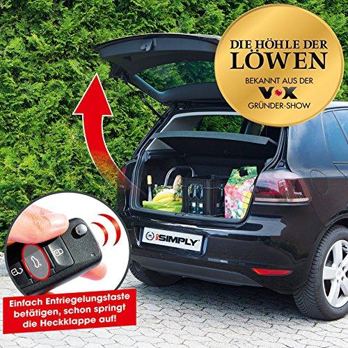 Go Simply Gasfeder Heckklappe | Automatische Heckklappe | Gasdämpfer Feder Kofferraum | Schwarz | Typ C