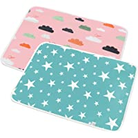 SunTop Waterproof Bed Pad - Baby Waterproof Sheet, Waterproof Mattress Protector Incontinence Mattress Protector for Children Adults, Soft Breathable Organic Colored Cotton Pets Pad