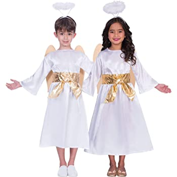 091b43587 Fancy Dress VIP Express Christmas Nativity Costume for Girls and Boys Angel  Gabriel Outfit Set -