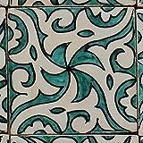 Orientalische Keramik Fliesen handbemalte marokkanische Motiv Fliese HIYAM GRÜN