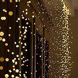 iBaste 280er LED Weihnachtslicht String Lichter DIY Halloween Deko Warmweiß Romantische Licht IP65 Wasserdicht für Außen Innen Hochziet Garten Party