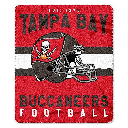 The Northwest Company NFL Tampa Bay Buccaneers Singular Bedruckt Fleece-Überwurf, Rot, 127x 152,4cm
