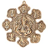 #4: Jaipuri Haat Ganesha Astavinayaka ( 8 Avatar of Lord Ganesh) hanging in Gold Finish Ideal for Gift Purpose( 28@28 CM)