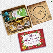 First Bud Organics Gift Hamper-3 Varieties of Honey with Panch Tulsi Drops, Chocolates, Card | Gift hampers fo