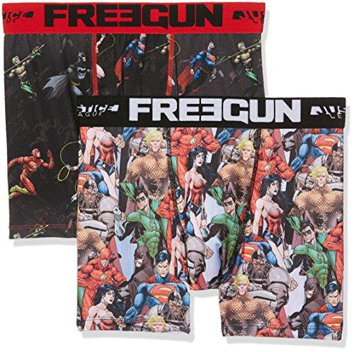 Freegun Justice League Herren Boxershorts Mehrfarbig (Multicolor A9)