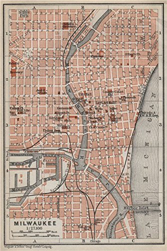 milwaukee-antique-town-city-plan-wisconsin-baedeker-1909-old-antique-vintage-map-printed-map-s-of-wi