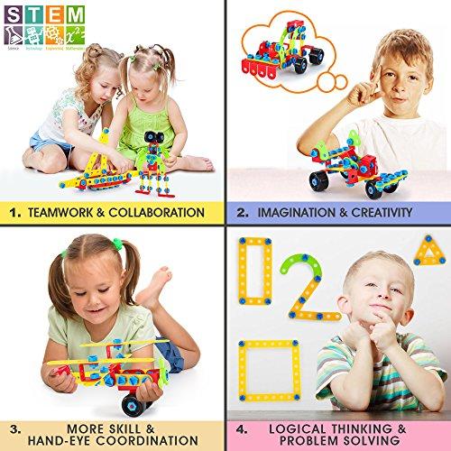 Lukat Bloques De Construccion Juguetes Para Ninos De 5 6 7 Anos Y