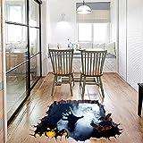 Overdose Halloween Aufkleber Home Dekoration Kunst Wand Wandbild 3D Boden Aufkleber 75 x 34cm #1
